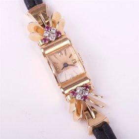 Gold 18k Ladies Wristwatch.