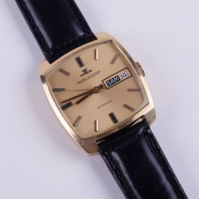 """jaeger Le Coultre"" Rectangular Automatic Gold 18k"