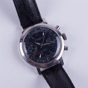 """jean Guillemin"" Chronograph Wristwatch."