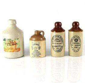 4 Stoneware Bottles.