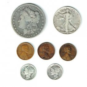 Lot Of 7 American Coins.