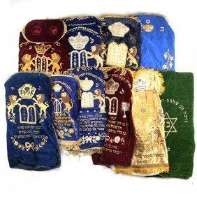 10 Torah Scroll Mantles.