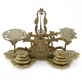 English Brass Postal Letter Scales, 1856.