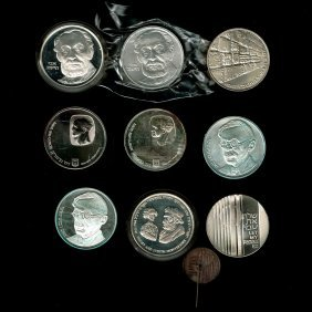 9 Israel Silver Coins.
