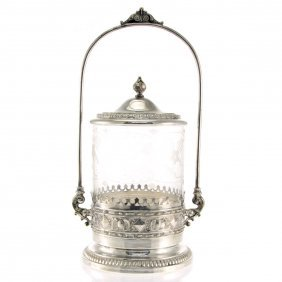 Wmf Silver Plated Biscuit Box, Germany, Circa 1910.