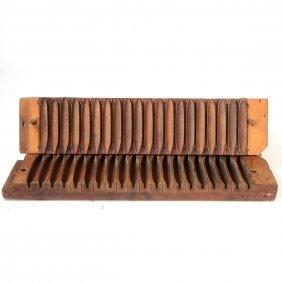 2 Durex Wooden Cigar Press Molds.