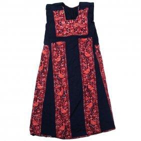 Palestinian Dress Sleeveless Embroidery Work Circa 1950