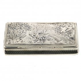 Austro-hungarian Silver Snuff Tobacco Box, Vienna, 1845