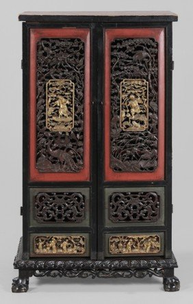 Carved, Painted And Parcel Gilt