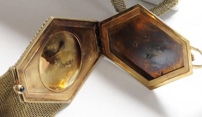 Art Deco 14 Kt Gold Purse Compact Lot 265