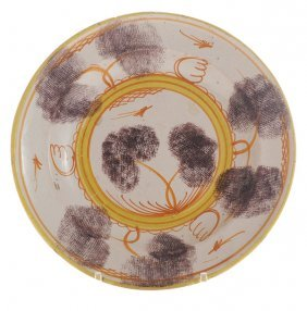 Delft Polychromed Shallow Dish