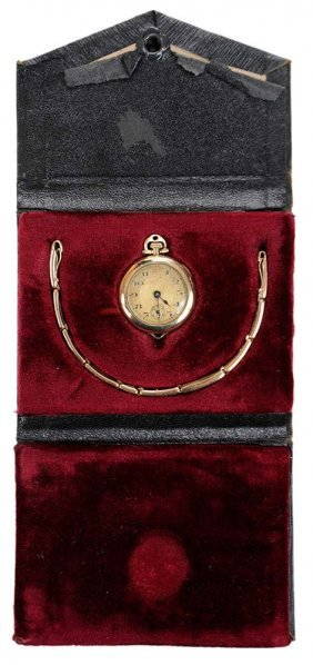 Antique Olga Cretets Watch In Fitted
