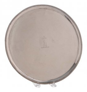 George Iii English Silver Salver
