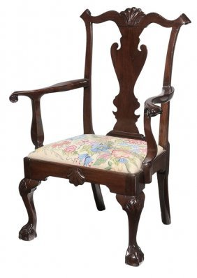 Philadelphia Chippendale Style Carved