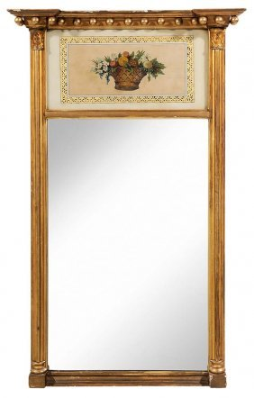 Labeled Federal Parcel Gilt Mirror