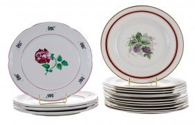 Sixteen Dinner Plates, Four Made For