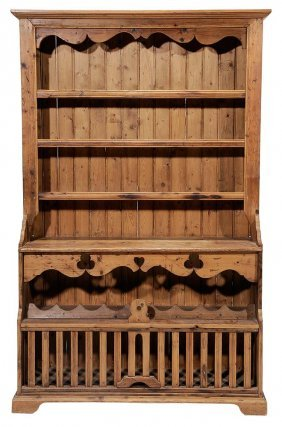 English Pickled Pine Country Dresser