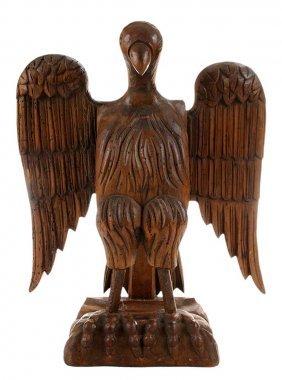 Carved Folk Art Pine Figure Of A