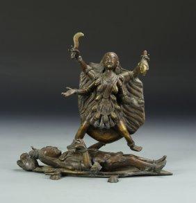 Chinese Tibetan Mythical Deity Figure
