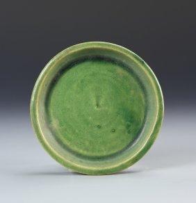 Chinese Antique Green Glazed Brush Washer