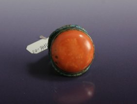 Old Natural Red Coral Ring