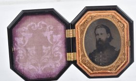 Civil War 1/9 Plate Tintype Of Officer