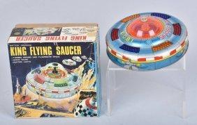 Japan Battery Op King Flying Saucer W/ Box