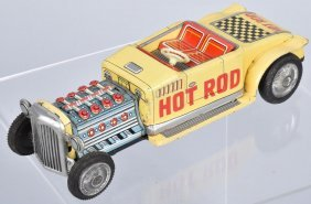 Japan Tin Friction Hot Rod W/ Moving Pistons