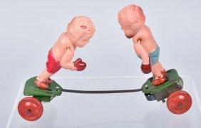 Japan Celluloid Windup Boxers