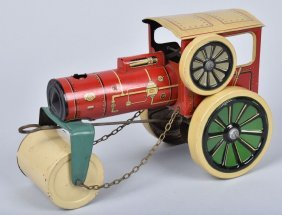 Us-zone Germany Tin Windup Steam Roller