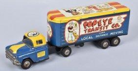 Linemar Tin Friction Popeye Moving Van