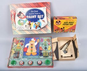 Walt Disney Paint Set & Picture Gun W/ Box