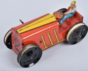 Marx Tin Windup #2 Tractor