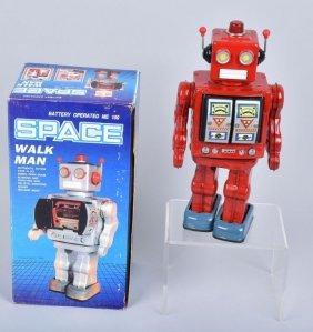 Hong Kong Battery Op Space Walk Man Robot W/box