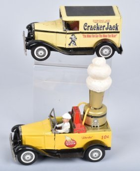 2- Vintage Bandai Dairy Queen & Cracker Jack Cars