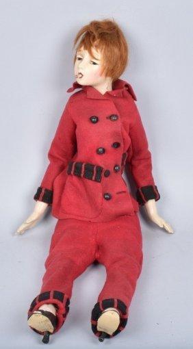 "Smoker Boudoir Doll 25"", Vintage"