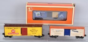 Lot Of 3 Lionel O Gauge Frieght Cars