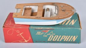 Japan Fleet Line Dolphin Boat With Original Box