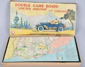 1925 Parker Bros. Lincoln Highway Game