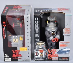 2- Toy Island Lost In Space Robots W/ Box