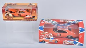 2 Dukes Of Hazzard General Lee Chargers Mib