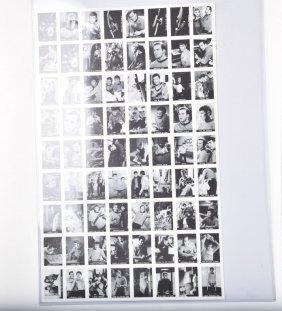 Un-cut Sheet Of 1967 Leaf Star Trek Trading Cards