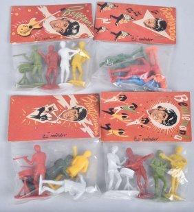 4 Packages Of Beatles Figures Mip