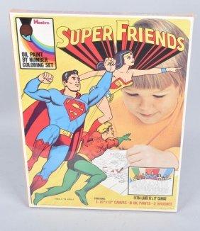 1973 Hasbro Super Friends Paint By Number Set Misb