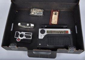 Agent Zero M Breif Case W/radio Camera Pen Knife