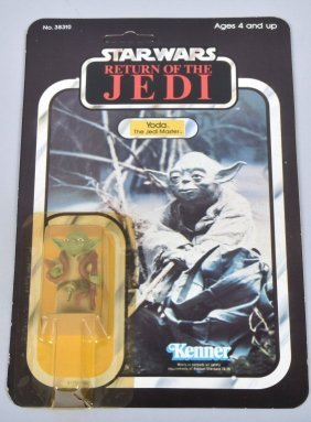 1983 Star Wars Rotj 65-b Yoda (brown Snake) Moc*