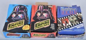 3- Topps Star Wars Esb & Rotj Trading Card Boxes