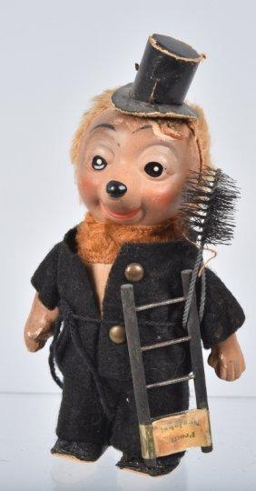 German Windup Hedgehog Chimney Sweep