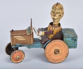 Marx Tin Windup Mortimer Snerd Crazy Car