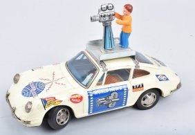 Battery Operated World News Camera Car